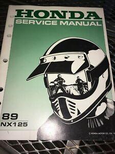 GENUINE-HONDA-SERVICE-SHOP-MANUAL-NX-125-1989-Ry24b