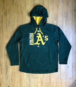 new product 201c0 deb49 Details about Matt Joyce Oakland Athletics Authentic Player Issue Hooded  Sweatshirt MLB