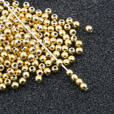 2mm Gold Acrylic Round Faux Pearl Beads Vintage Japanese 300pcs 10301001