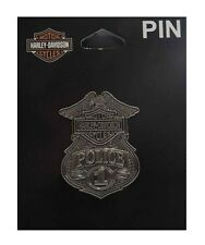 Harley-Davidson® Bar & Shield #1 Police Badge 3-D Nickel Die Cast Pin P1263063