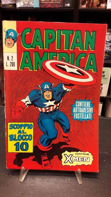 Capitan America #2 Editoriale Corno 1973 buono resa con 1 adesivo
