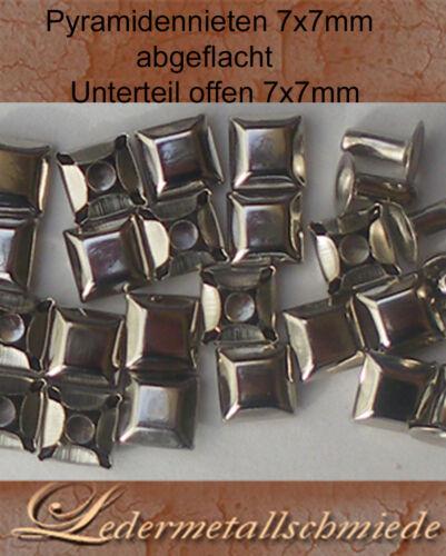 con íNiet-opaco 50 o 100 unidades pyramidennieten 7x7mm aplanada