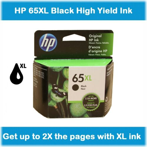 EXP 2020 Black or Tri-Color HP 65XL High-Yield Single Ink Cartridge in Box