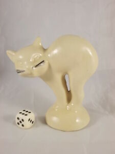 Vintage-Hummel-Design-Model-Cat-As-Brezelhalter-White-50er-60er-Years-RAR