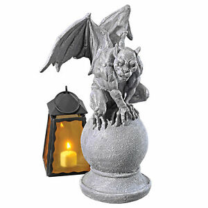Malicay-The-Malicious-Gargoyle-Design-Toscano-14-034-Statue-Faux-Gray-Stone-Finish
