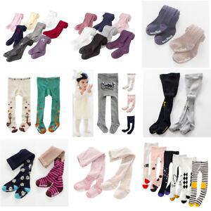 UK Baby Girls Toddler Kids Cotton Warm Tights Stockings Pantyhose Pants Socks