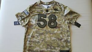 buy popular 59fa7 fb782 Von Miller Denver Broncos Nike Salute to Service OnField Dri ...