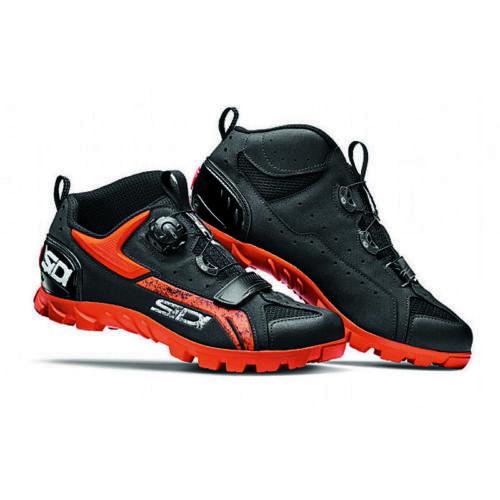 Sidi Defender Mountain Bike MTB Shoes Black Orange Size 45 EU