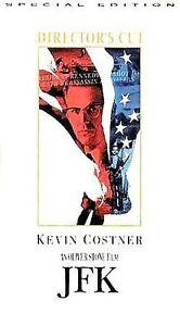 JFK (VHS, 1993, 2-Tape Set, Extended Directors Cut) Kevin Costner
