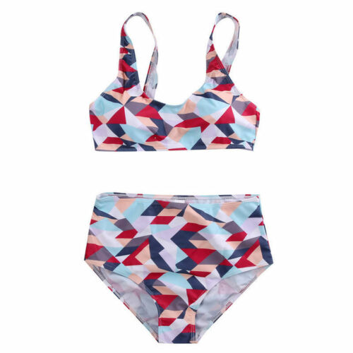 Women High Waisted Bikini Set Swimwear Push Up Bra 2 Piece Swimsuit Bathing Suit