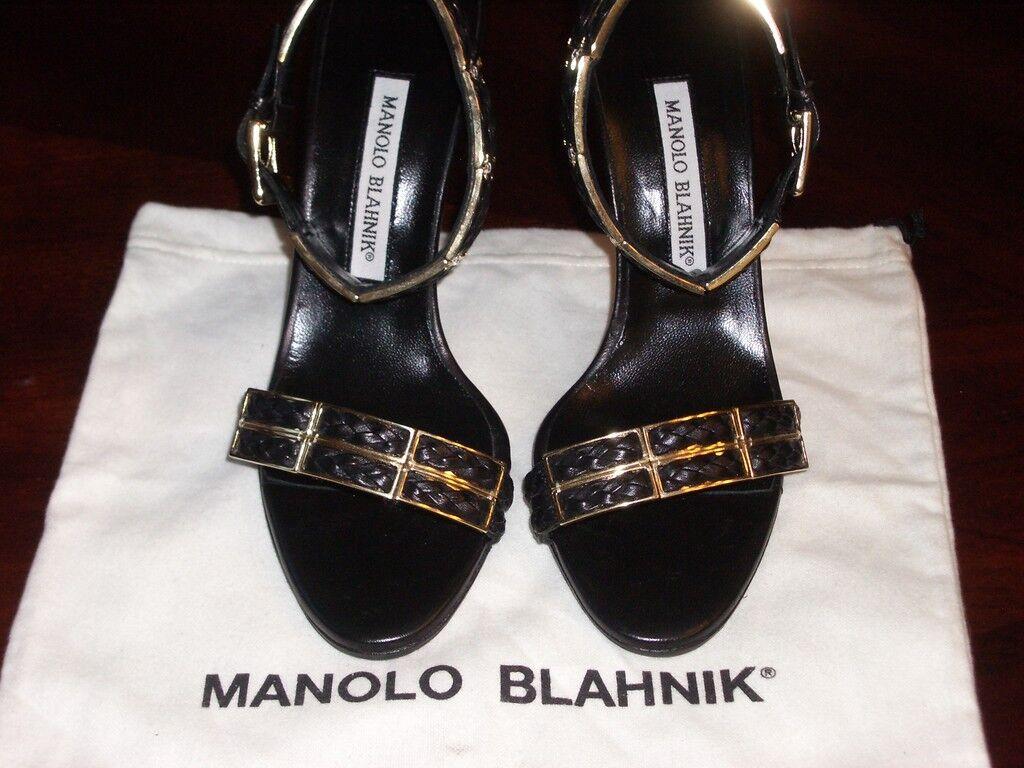 NIB Manolo Blahnik Ankle  Strap Sandal Pump 7.5  1,150  shopping online di moda