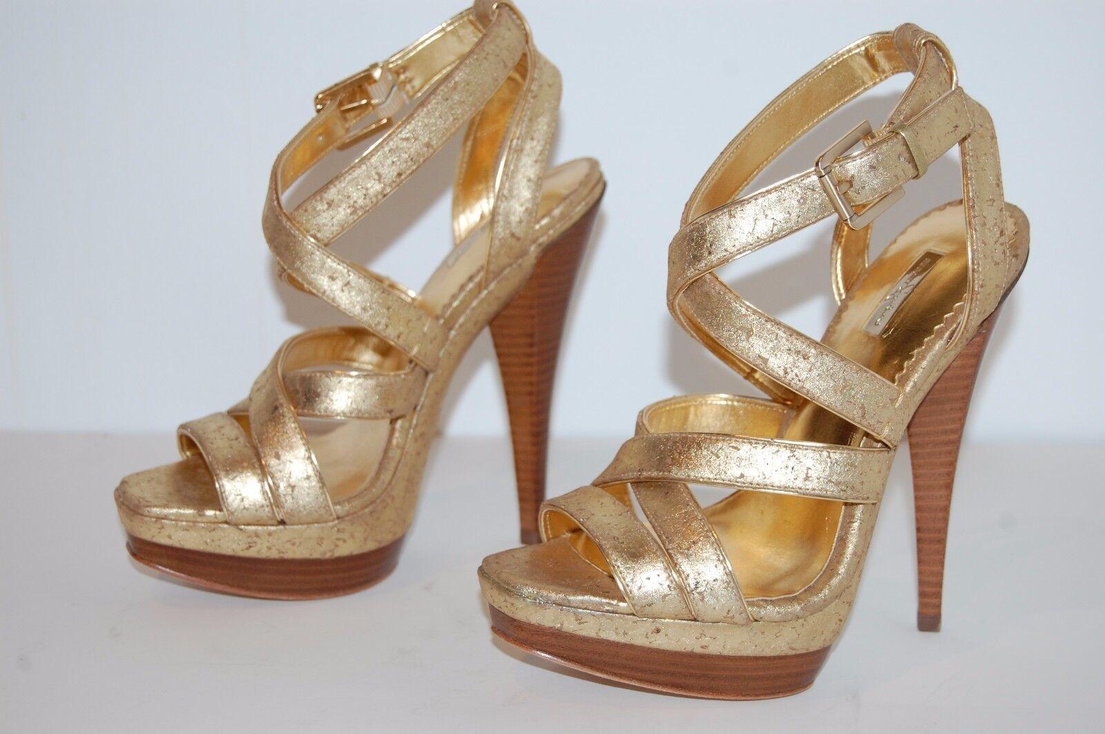 Report Signature Glam oro Metálico Metálico Metálico Taco Alto Plataforma Zapatos De Salón Talla 7.5  mejor calidad mejor precio