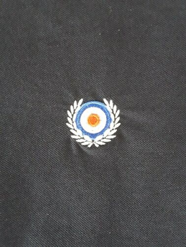Size XXL. Mod//Fred Perry style polo shirt Navy with white trim
