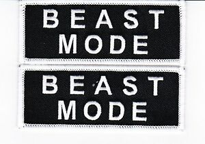 Embroidered Beast Mode On Sew or Iron on Patch Biker Patch