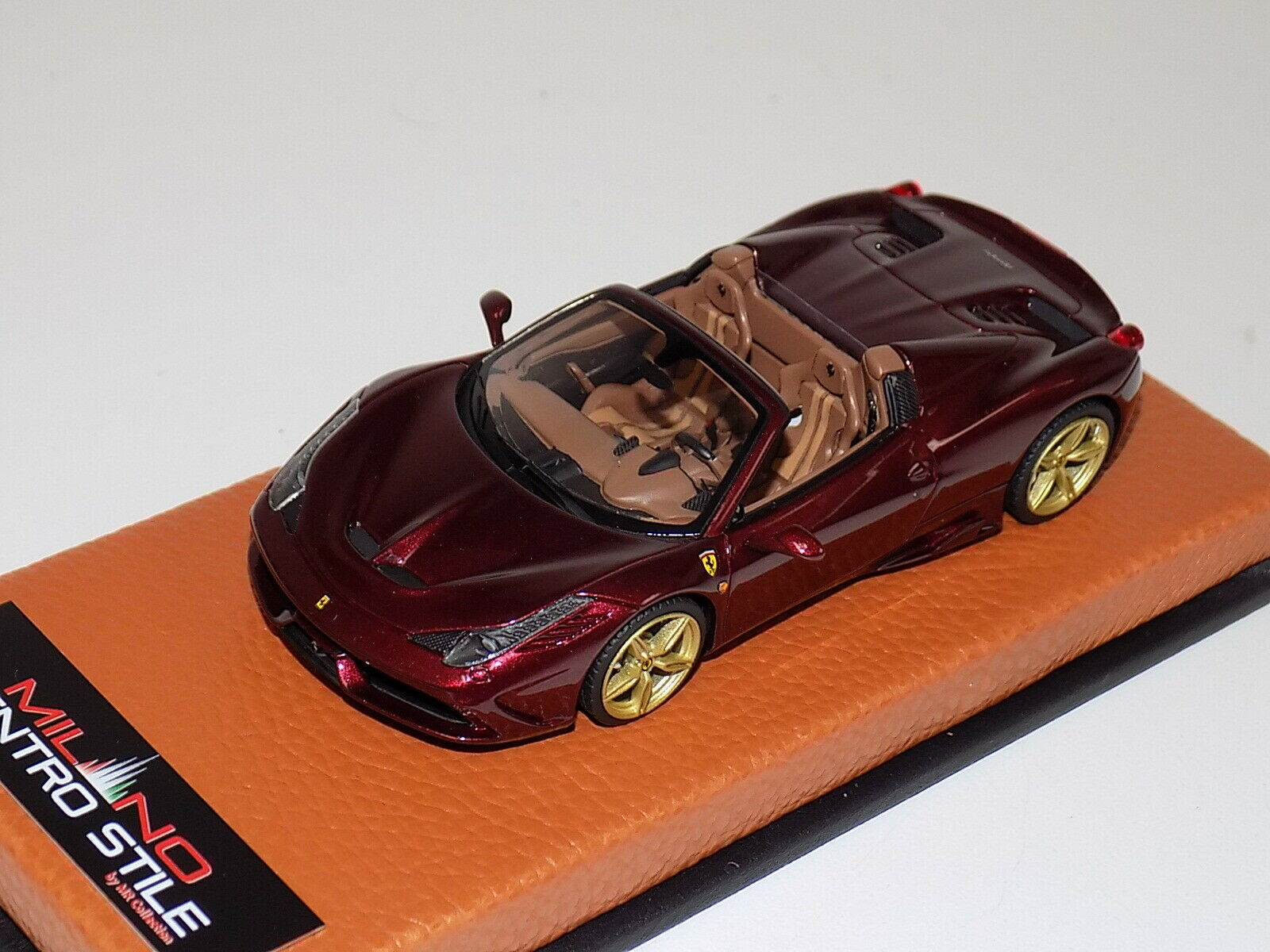 1/43 MR Ferrari 458 Speciale Rubio Micalizzato on Leather Base limited 5 pcs C26