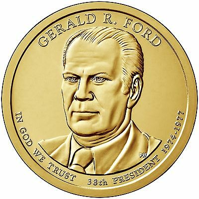 Ford Presidential One Dollar 25-Coin Roll Mint wrapped 2016 D Gerald R