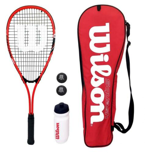 Wilson Red Squash Starter Set includes Balls & Waterbottle RRP £80