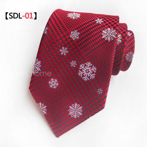 Novelty Men/'s Tie Classic Christmas Disguised Silk Jacquard Jubilant Necktie F#