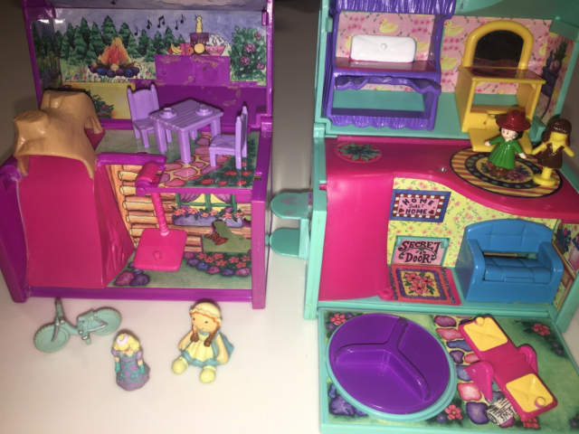 Polly Pocket, 2 stk polly pocket lignende huse men af…