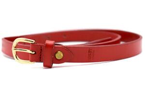 Osprey-London-Skinny-Womens-Leather-Belt-Red-Size-L