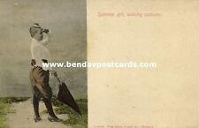 siam thailand, Siamese Girl in Walking Costume (1899) Siam Photo Supply Co.