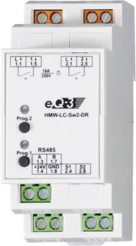 Homematic RS485 Schaltaktor HMW-LC-Sw2-DR 76801  2-Kanal Hutschiene 3680 W