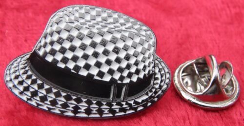 Ska Trilby Mod Mods Lapel Hat Tie Pin Badge Reggae Two Tone Pork Pie Hat