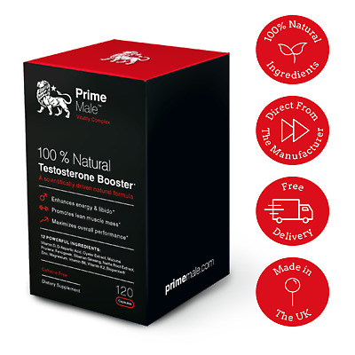 Prime Male Natural Testosterone Booster 120 capsules - BUY DIRECT 787099401924 eBay