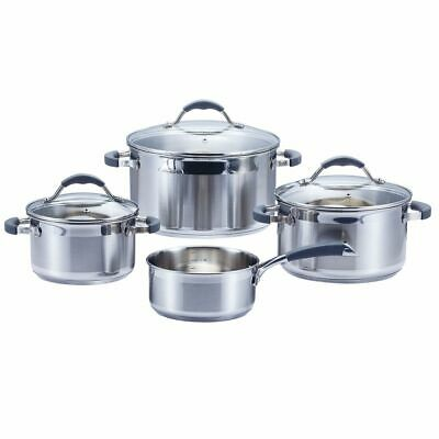 Cookware, Dining & Bar Special Section Ssw Pro King Cooking Pot Set Pots Glass Lid Casserole Stainless Steel 7 Piece 100% High Quality Materials Pots & Pans