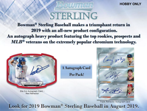 Details about 2019 BOWMAN STERLING BASEBALL LIVE RANDOM PLAYER 1 BOX BREAK  - 5 AUTOS