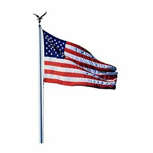 US USA American Flag Aluminum Flagpole Pole mercial