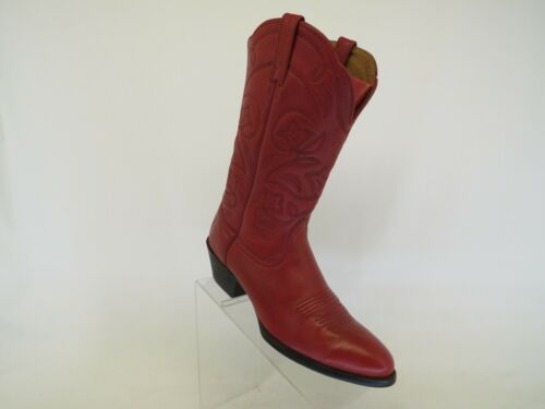 Ariat Red Leather Western Cowboy Boots Womens Size