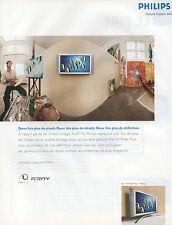 Publicité 2003  PHILIPS  télévision FLAT TV Pixel Plus