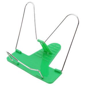 Green Adjustable Foldable Book Holder Stand Kindle Pad Rack