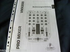 Behringer VMX 200  Bedienungsanleitung  User's Manual