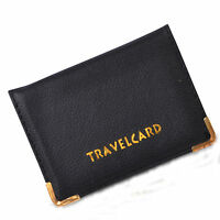 LEATHER OYSTER TRAVEL CARD BUS PASS HOLDER WALLET RAIL CARD COVER CASE NEW