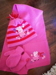 Image is loading Mothercare-Girls-hat-scarf-gloves-set-1-3- 38b599df778a