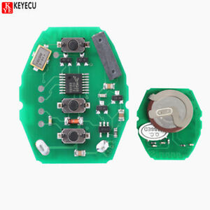 Details About W Rechargeable Battery Remote Circuit Board 3 Btn 433 92mhz For Bmw E46 Key Fob