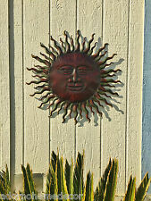 Superb Metal Sun Wall Decor Rustic Garden Art Indoor Outdoor Patio Wall Sculpture