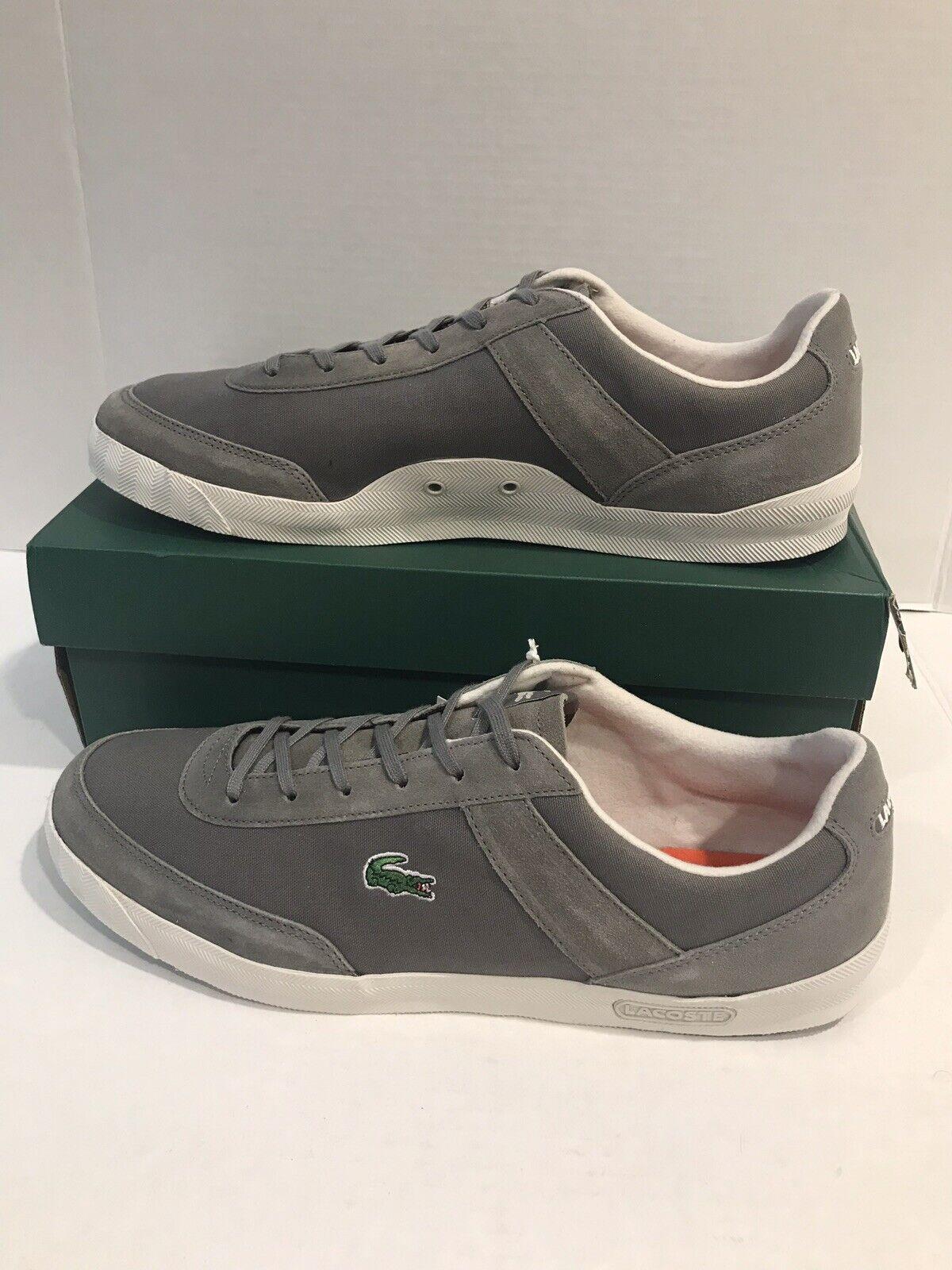 Lacoste Suzuka para hombre S Spm gris Hombres Zapatos para Caminar Lona Gamuza