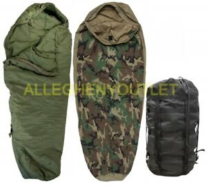 Intermediate Sleeping Bag BLACK Part of MSS Modular Sleep System US Military VGC