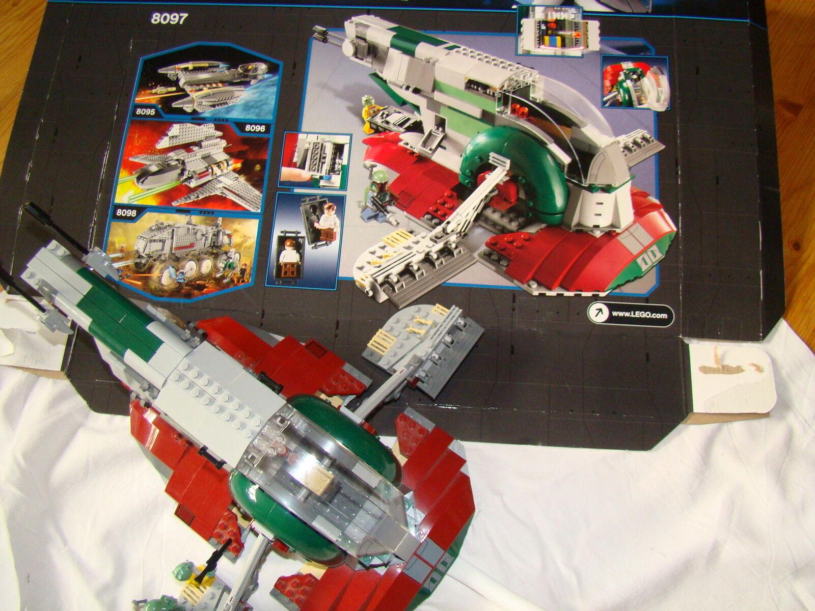 LEGO Star Wars 8097 slave 1 completa come nuovo Jed. senza al, con OVP nr30