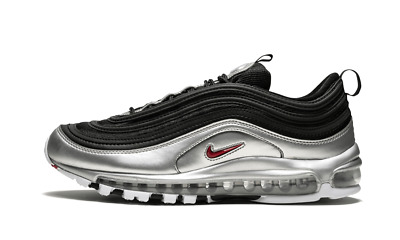 Nike Air Max 97 QS BLACK SILVER B SIDES METALLIC BULLET RED AT5458 001 Men Women | eBay