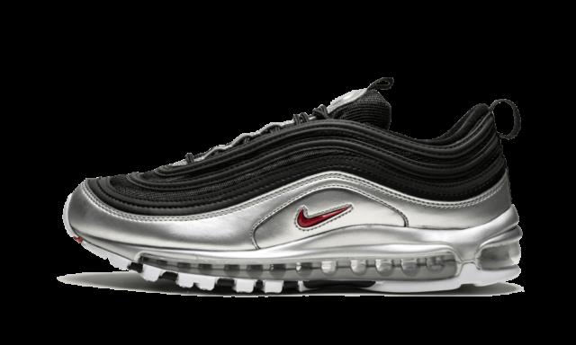 Nike Air Max 97 Og Qs Silver Bullet Metallic Silver 884421 001 Sneakers Women's Men's Running Shoes