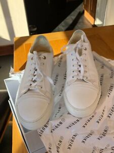 Details about MENS NUBIKK WHITE LEATHER JAGGER JOE TRAINERS UK 6 .. 40 EU