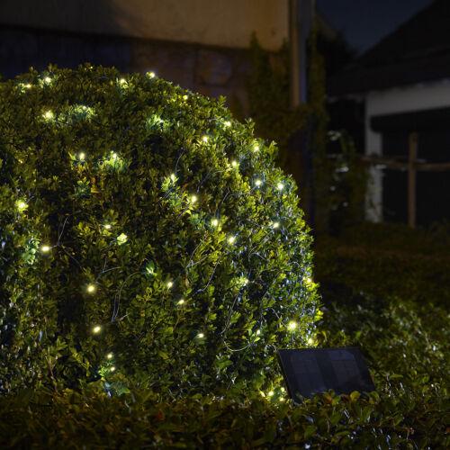 200er LED ad energia solare luci esterno rete catena luminosa LED rete 1,5x2,4 M BIANCO FREDDO xm65