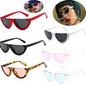 8b7b44f359 Women Vintage Half Frame Cat Eye Sunglasses Sexy Ladies Fashion ...