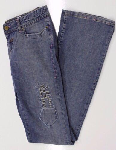 Sonneti Da Donna Bootcut Blu Jeans Denim scolorita RRP £ 80 Taglia 10 XLONG Baal 06