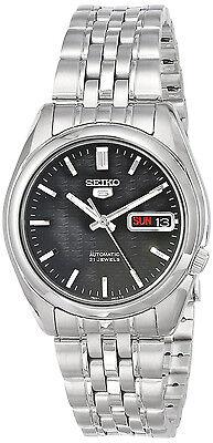 SEIKO MEN AUTOMATIC SEE THROUGH STEEL WATCH SNK361 SNK361K1