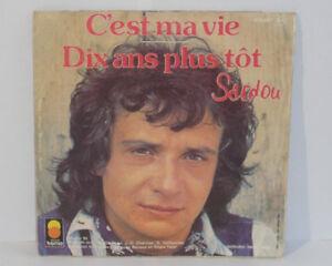 MICHEL-SARDOU-C-est-ma-Vida-Diez-Anos-Plus-Tot-VINILO-45-Tours-410057-TREMA-1977